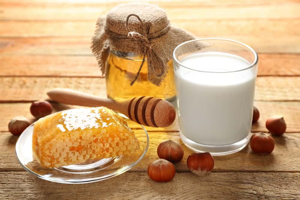 lait miel cheveux