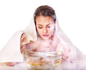 bain vapeur visage